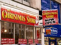 Christmas High Street  Store Royalty Free Stock Photo