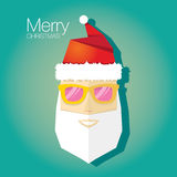 Christmas hipster greeting card Stock Photo