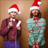 Christmas Hipster Stock Images
