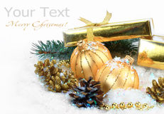 Christmas holiday. Christmas pictures on a light background Stock Photo