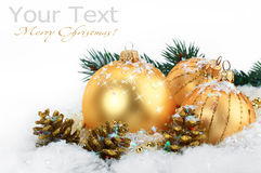 Christmas holiday. Christmas pictures on a light background Stock Photos