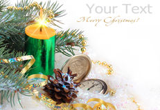 Christmas holiday. Christmas pictures on a light background Royalty Free Stock Photography
