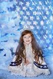 Christmas holiday. Little girl on christmas holiday Royalty Free Stock Image