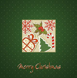 Christmas holiday background with Christmas toys Stock Images