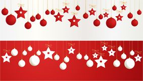 Christmas banners with decorations Royalty Free Stock Image