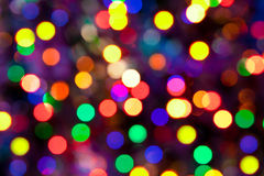 Christmas holiday background with glossy tinsel Royalty Free Stock Photos