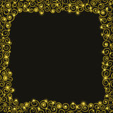 Christmas holiday background with Golden spirals.Vector illustration Royalty Free Stock Images