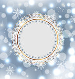 Christmas holiday background with greeting card Stock Image