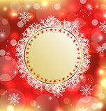 Christmas holiday background with greeting card Royalty Free Stock Photos