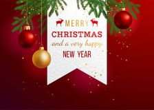 Christmas holiday background. Merry Christmas and a very happy new year, holiday background. Vector illustration Stock Image
