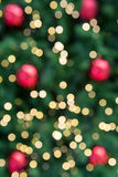 Christmas holiday background over festive bokeh Royalty Free Stock Photography