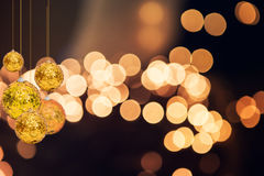 Christmas holiday background over winter bokeh Royalty Free Stock Image