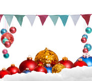 Christmas holiday background over winter bokeh Stock Image