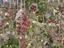 Silver Christmas Background. Christmas - Holiday background, suitable for seasonable websites or for many other holiday uses signs, newsletters, cards, etc Stock Photos