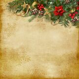 Christmas Holiday Background With Decorations On A Vintage Background Royalty Free Stock Photo