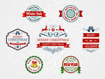 Christmas and holiday badges Royalty Free Stock Image