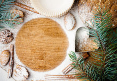 Christmas and holiday baking, ready template Royalty Free Stock Image