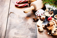 Christmas holiday baking Stock Image
