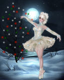 Christmas Holiday Ballerina Stock Photography