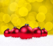 Christmas Holiday Bauble Bulbs Royalty Free Stock Photography