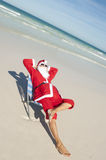 Christmas Holiday Beach Santa Claus Stock Photos