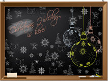 Christmas holiday blackboard design Royalty Free Stock Image