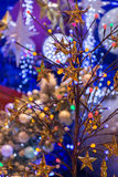 Christmas holiday blinking abstract background. Royalty Free Stock Photos