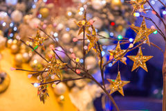 Christmas holiday blinking abstract background. Royalty Free Stock Photo