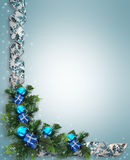 Christmas holiday border stock photography