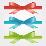 Christmas and holiday bow red, blue and green.  royalty free illustration