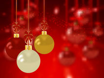 Christmas holiday bright background with ball Royalty Free Stock Images