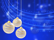 Christmas holiday bright background with ball Stock Photo