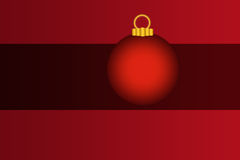 Christmas Holiday Bulb Ornament Red and Black Desi Royalty Free Stock Images