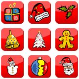 Christmas holiday buttons Stock Photo