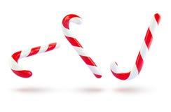Christmas holiday caramel canes raster illustration. 3d Royalty Free Stock Photos