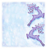Christmas holiday card, reindeer decorative Royalty Free Stock Photos