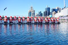 The Christmas holiday celebrated down under in summer in Sydney. SYDNEY, AUSTRALIA - Christmas is celebrated down under in Sydney, Australia, during summer with Stock Photos