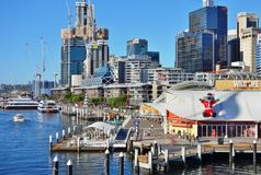 The Christmas holiday celebrated down under in summer in Sydney. SYDNEY, AUSTRALIA - Christmas is celebrated down under in Sydney, Australia, during summer with Royalty Free Stock Photography