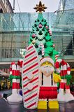 The Christmas holiday celebrated down under in Sydney with Lego decorations Stock Images