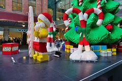 The Christmas holiday celebrated down under in Sydney with Lego decorations Royalty Free Stock Photos