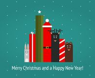 Christmas Holiday Characters Graphic Illustration Stock Photography