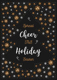 Christmas Holiday Cheer card, Xmas flyer, Greeting postcard, invitation, poster Stock Photography
