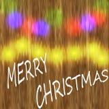 Christmas, holiday Christmas card. Reflection garlands. illustration Royalty Free Stock Photos