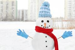 Christmas holiday concept. Funny snowman Stock Images