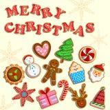 Christmas holiday cookies Stock Photography