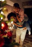Christmas holiday - Couple in love have fun together