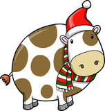 Christmas Holiday Cow Stock Image