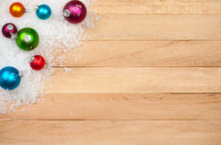 Christmas: Holiday Decoration Background. Background series of Christmas related items with lots of copyspace, on a wooden table setting Stock Photos