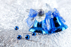 Christmas holiday decoration with blue bluebells Royalty Free Stock Photo