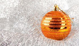 Christmas holiday decoration with gold ball Stock Photo